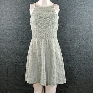 NWT Lily Rose Pale Mint Lined Lace Dress